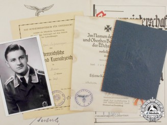 An Extensive Document Collection to Unteroffizier Scheuringer; Battle of Britain POW