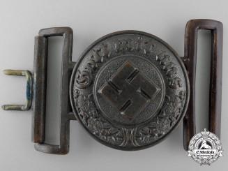 A German Fire Brigade Police Officer's Belt Buckle