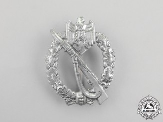 A Fine Second War German Silver Grade Infantry Assault Badge by Josef Feix & Söhne