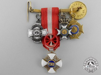 A First War Diplomatic Miniature Medal Chain