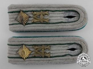 A Set of  Heeres Verwaltung German Army Administration Shoulder Boards