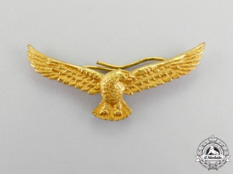 An Indian Air Force (IAF) Officer's Cap Badge