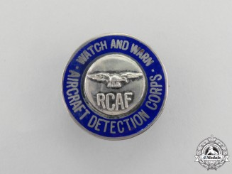 A Second War Royal Canadian Air Force (RCAF) Aircraft Detection Corps Badge