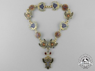 A Gold Russian Imperial Order of Saint Andrew Miniature Collar