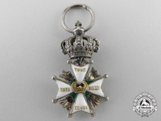 A Rare Miniature Dutch Military Order of William c.1815