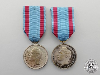 Hesse-Darmstadt. Two Ernst Ludwig Civil and Military Medals