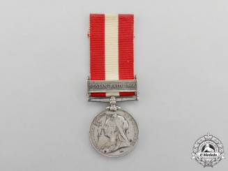 A Canada General Service Medal to Ensign Martin Benson; 15th Battalion of Infantry (Belleville)