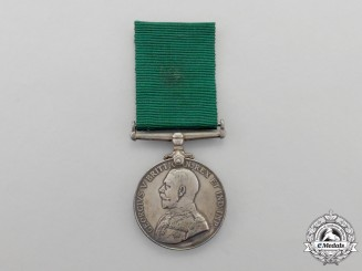 A Colonial Auxiliary Forces Long Service Medal Issued to Battery Sergeant Major; 1st Halifax Coast Brigade