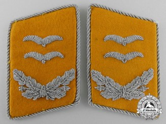 A Set of Luftwaffe Oberleutant (Lieutenant) Flight Personnel Collar Tabs