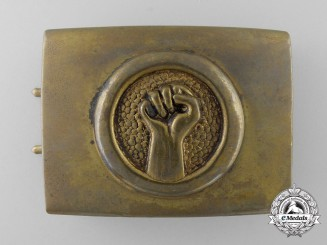A German Red Front Fighter's League Veteran's Belt Buckle; Published Example