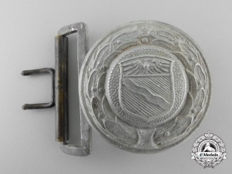 A Third Reich Period Rhineland Fire Defence Service Officer's Belt Buckle