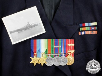 A Group to Lieutenant-Commander Raymond Lawrence Gleadow, Royal Canadian Navy