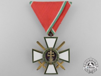 A Hungarian Order of Merit; Military Division 4th Class with Swords
