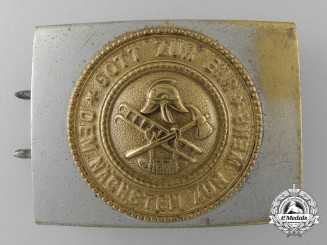 An Early Third Reich Period Fire Defence Service Belt Buckle