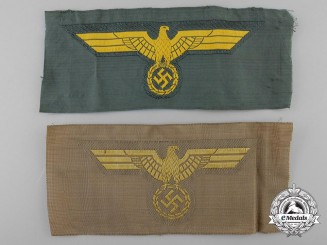Two German Breast Eagles; Tropical Kriegsmarine & KM Coastal Artillery