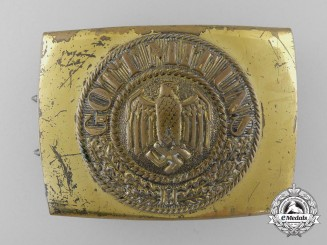 A Kriegsmarine Enlisted Man's Belt Buckle; C.T.D. 1942