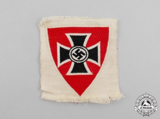 A Mint and Unissued Third Reich Period German Veteran's Organization Sleeve Patch