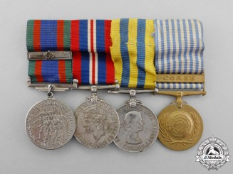 Canada. A Second War & Korean War Veteran's Group of Four to J.A.H. Rehel