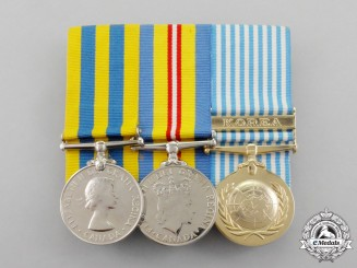 Canada. A Korean War Veteran's Group of Three to R.S. Adam