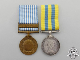 Canada. A Korean War Campaign Medal Pair to P.G. Palmer