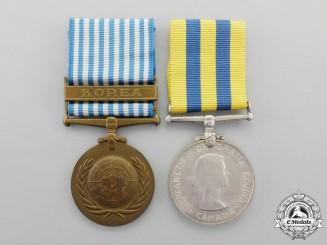 Canada. A Korean War Veteran's Pair to K.D. France