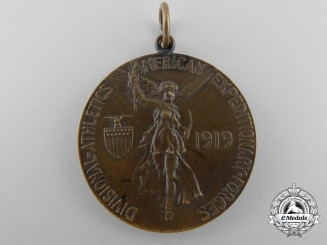 A First War Tiffany Made American Expeditionary Force Athletics Medal; Named