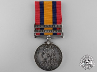 A Queen's South Africa Medal to the 2nd Battalion Lincolnshire Regiment
