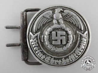 An SS Officer's Belt Buckle by Overhoff & Cie Lüdenscheid