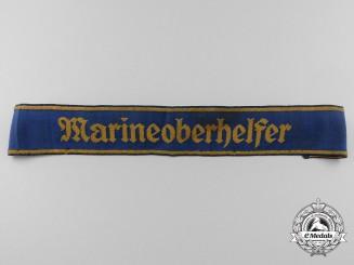 "Germany, Kriegsmarine. A Marine-HJ Armband for ""Marineoberhelfer"" for Kriegsmarine Service"