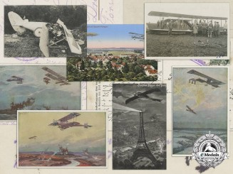 Seven First War Period Aircraft Postcards/Photographs