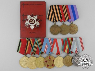 A Soviet Russian Group of Awards & Documents to Piotr Filipovitch Fomenkov