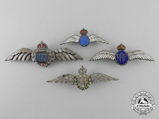 Four Second War Royal Air Force (RAF) & (RCAF) Sweetheart Wings