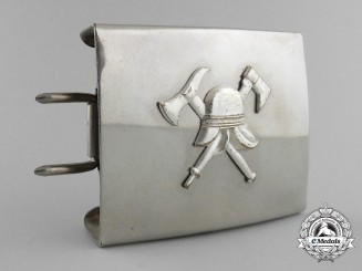 A Third Reich Fire Defence Service Enlisted Man' s Belt Buckle