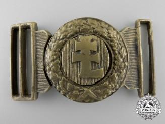 A Hungarian Levente Officer's Belt Buckle