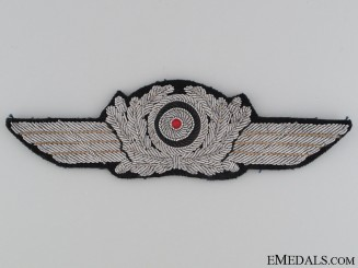 Officer's Visor Cap Wreath and Cockade
