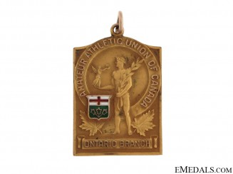 Ontario Boxing Championship Medal in Gold - 1932