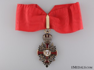 Order of Franz Joseph in Gold; Commander's Neck Cross
