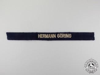 "A Second War Luftwaffe ""Hermann Göring"" 1st Paratroop Panzer Division EM/NCO's Cuff Title"