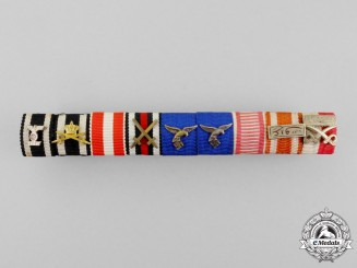 An Extensive German Luftwaffe Long Service Medal Ribbon Bar