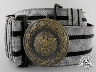 Germany. A Diplomatic/Government Official Brocade Belt and Buckle, 1942 Pattern