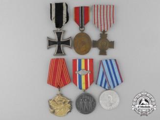 Six European Medals, Awards & Decorations