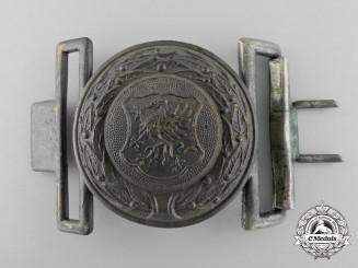 A Pommern (Pommeranien) Fire Defence Service Officer's Belt Buckle; Published Example