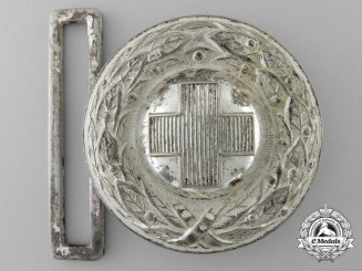 A Third Reich German Red Cross (Deutsches Rotes Kreuz) Officer's Belt Buckle