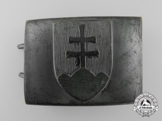 Slovakia. An Enlisted/NCO's Belt Buckle, by Mincovna Kremnica, c.1940