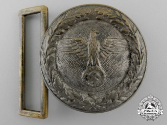 A Third Reich Baden and Hesse State Forestry Service Officer's Belt Buckle; Published Example