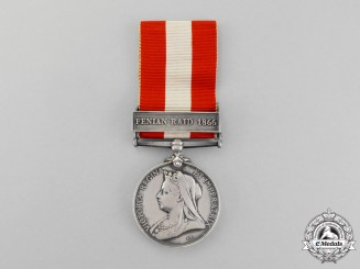 Great Britain. A Canada General Service Medal 1866-1870 to Cadet, Military School