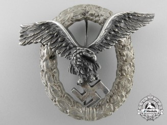 An Early Luftwaffe Pilot's Badge by C.E.Juncker