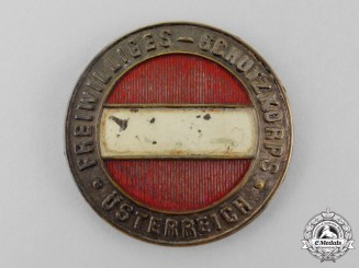 "Austria, Imperial. A Volunteer ""Protection Corps"" Regimental Badge"