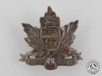 "Canada. A First War 97th Infantry Battalion ""Toronto Americans"" Cap Badge, Second Version"