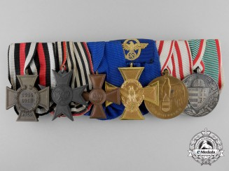 A Weimar Republic & Police Long Service Medal Bar